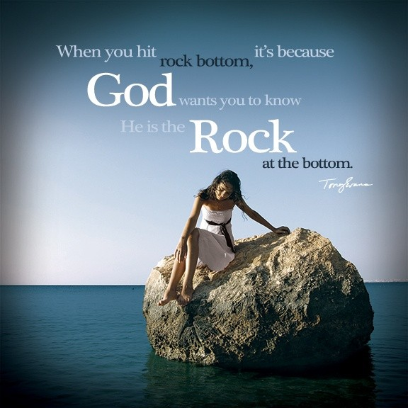 Hitting Rock Bottom Quote 1 Picture Quote #1