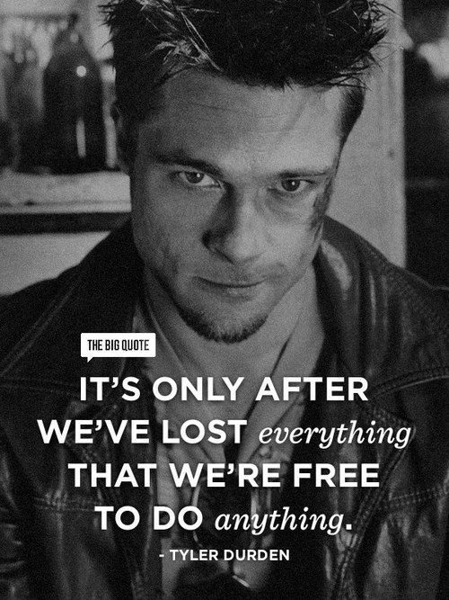 Fight Club Quote Rock Bottom 1 Picture Quote #1