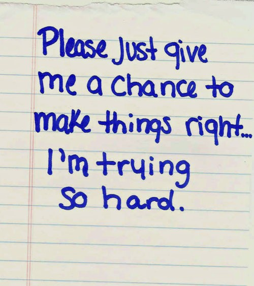 Give Me A Chance Quote 1 Picture Quote #1