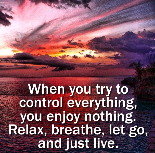 Enjoying Life Not Caring Quote 1 Picture Quote #1