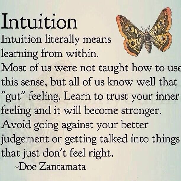 Intuition Quote 1 Picture Quote #1