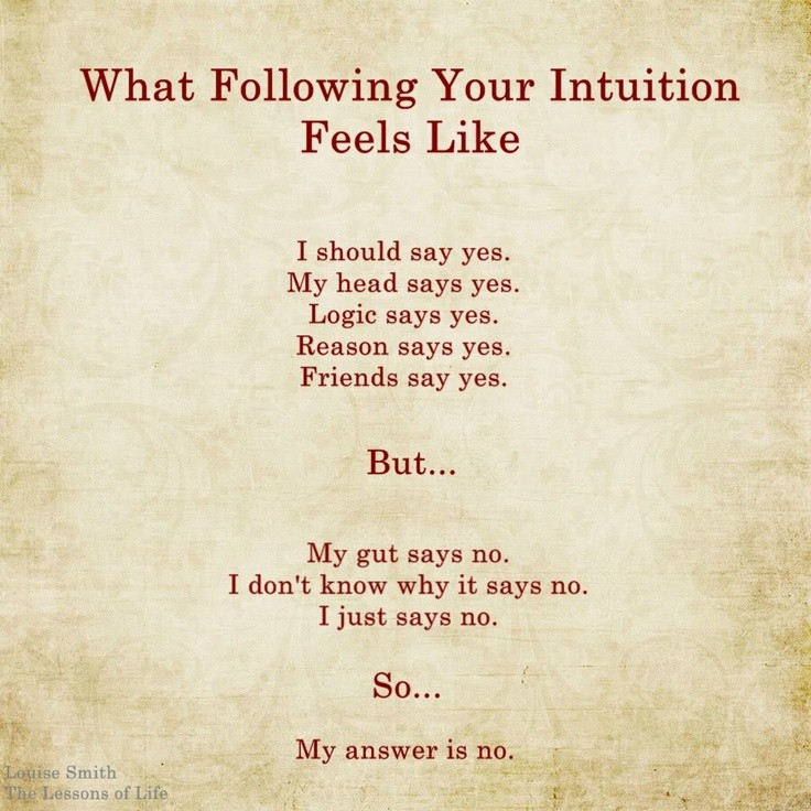 Follow Intuition Quote 9 Picture Quote #1
