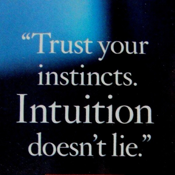 Female Intuition Quote 1 Picture Quote #1