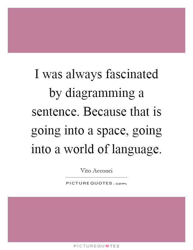 Sentence quotes sentence sayings sentence picture quotes page 17 i was always fascinated by diagramming a sentence because that is going into a space ccuart Images