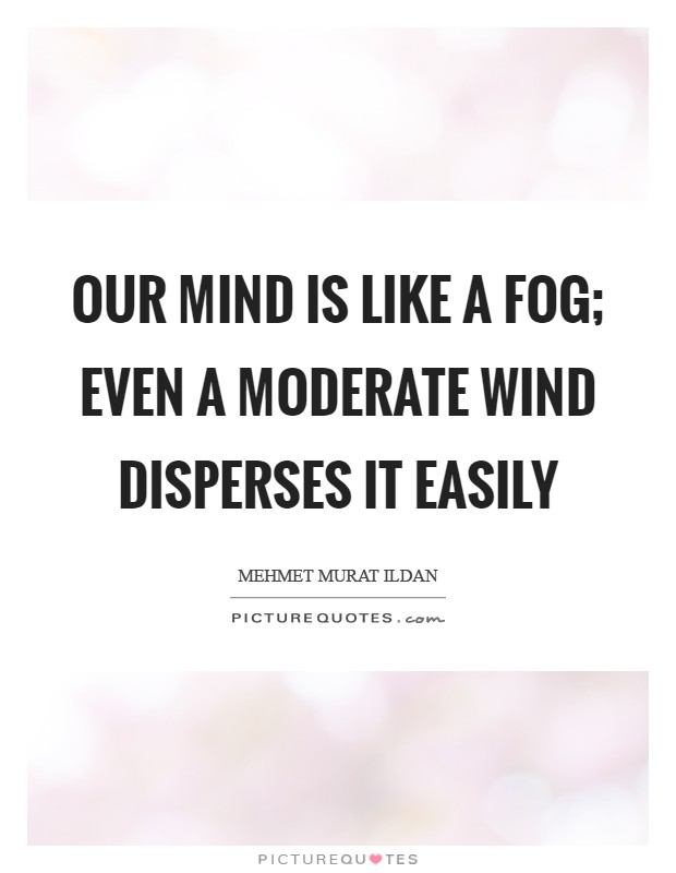Our mind is like a fog; even a moderate wind disperses it easily Picture Quote #1