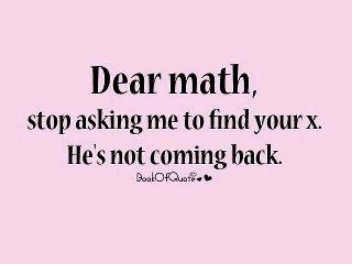 Funny Mathematics Quote 1 Picture Quote #1