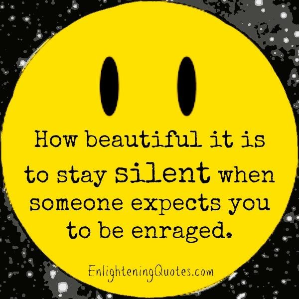 Staying Silent Quote 1 Picture Quote #1