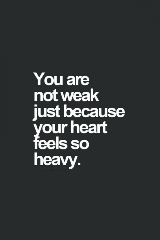 Heavy Heart Quotes & Sayings | Heavy Heart Picture Quotes