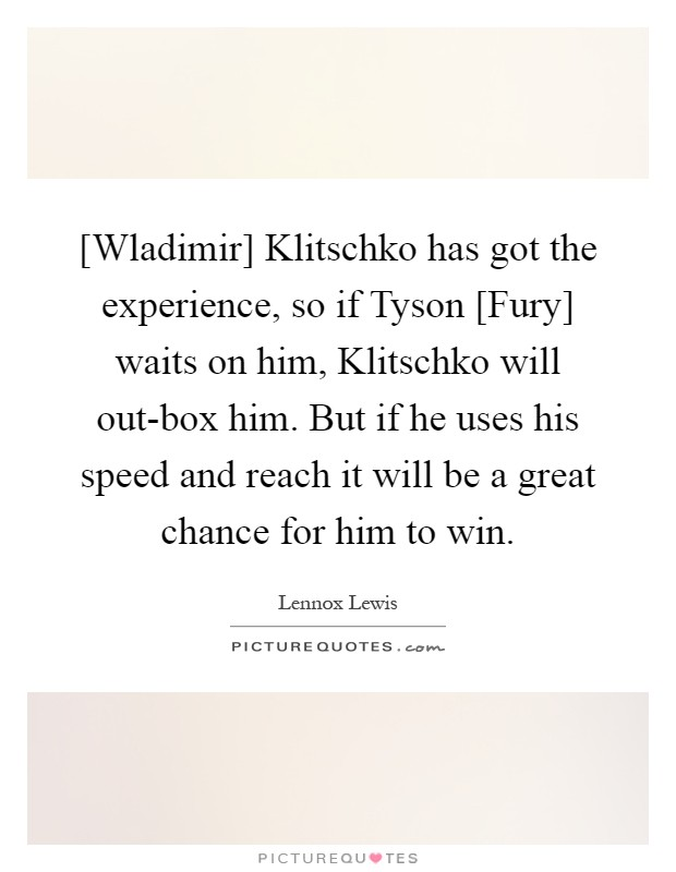 quote klitschko fury