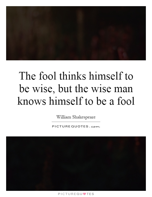 Churchill The Fool In Me