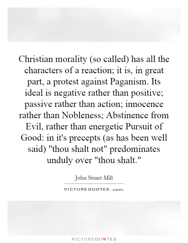 an analysis of christian morality An estimated 22 billion people claim christianity as their religion, but what does  that mean what is the foundation of christian behavior in.