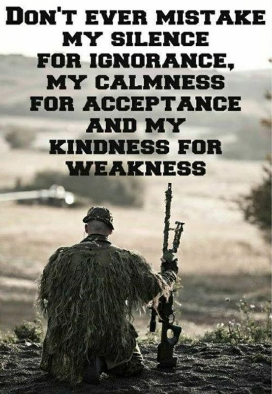 Don't ever mistake my silence for ignorance, my calmness for acceptance or my kindness for weakness Picture Quote #1