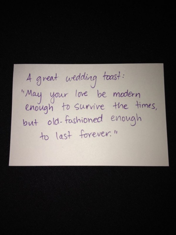 Wedding Toast Quote 1 Picture
