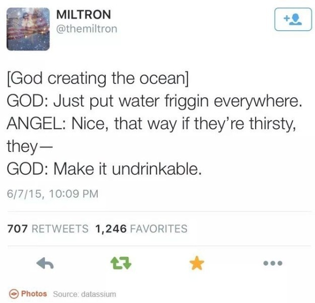 God creating the ocean Picture Quote #1