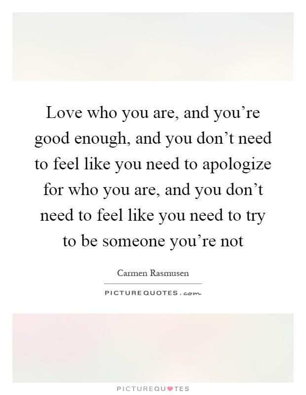 you re good enough