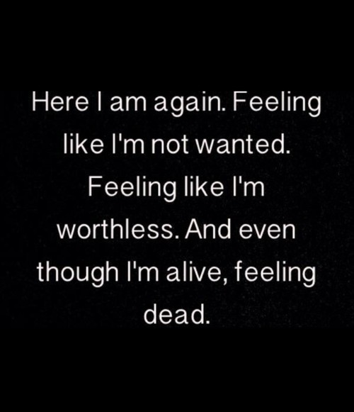 Feeling Worthless Quote 1 Picture Quote #1