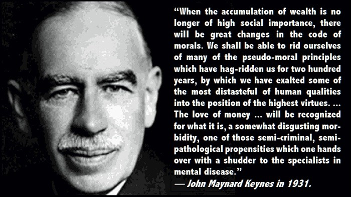 John Maynard Keynes Capitalism Quote 1 Picture Quote #1
