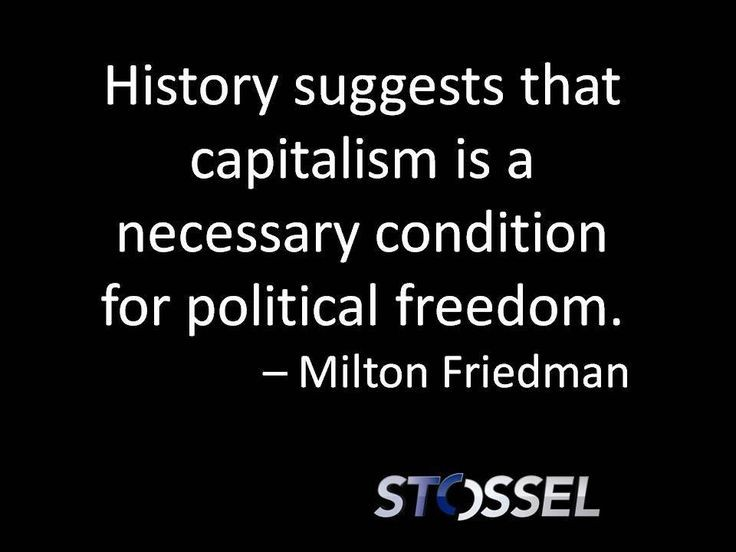 Milton Friedman On Capitalism Quote 1 Picture Quote #1