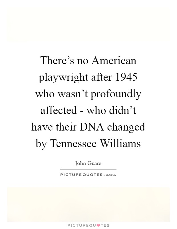 a description of tennessee williams as an important american playwright