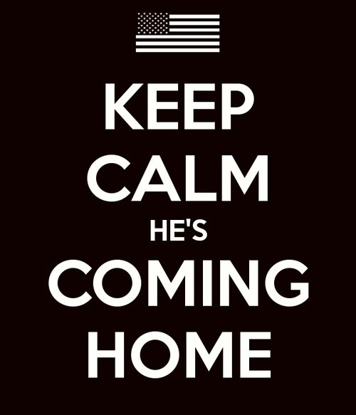 Hes Coming Home From Deployment Quote 1 Picture Quote #1