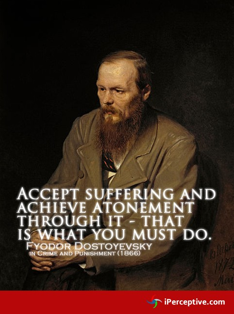 crime and punishment by dostoevsky part i and ii quote analysis One of the most influential novels of the nineteenth century, fyodor dostoevsky's crime and punishment tells the tragic story of raskolnikov—a talented former student whose warped philosophical outlook drives him to commit murder surprised by his sense of guilt and terrified of the consequences.