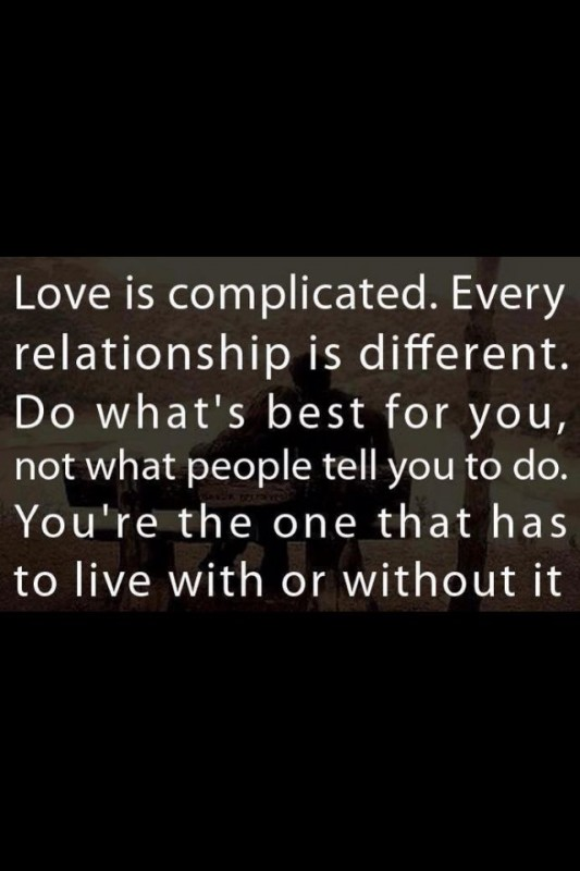 complicated relationship quote pics