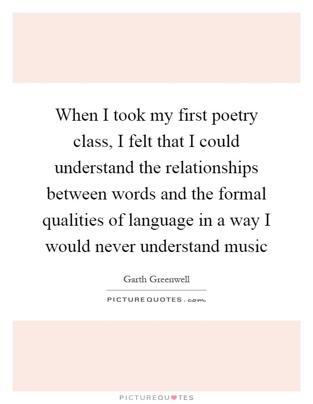 what relationship between language and content in poetry