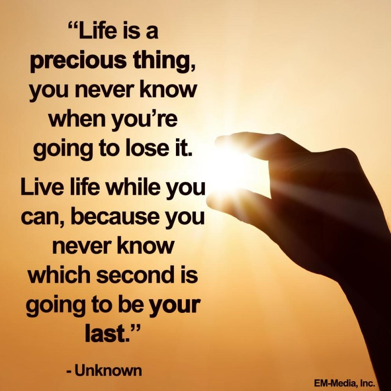 Life Is Precious Quote 9 Picture Quote #1