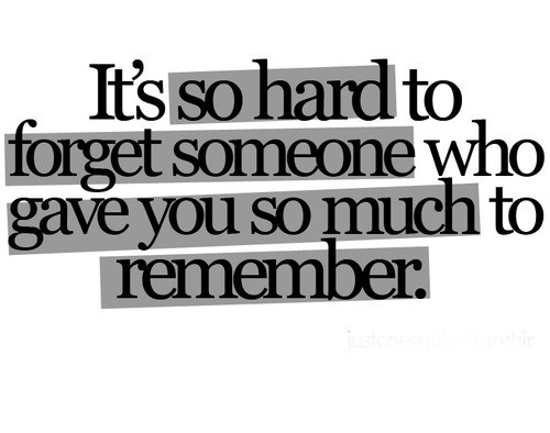 Hard Getting Over Someone Quote 1 Picture Quote #1