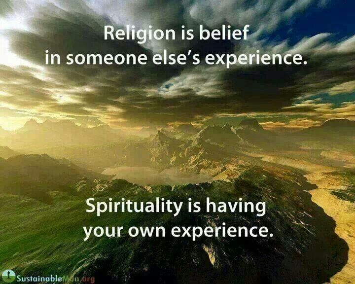 Religion Vs Spirituality Quote 1 Picture Quote #1