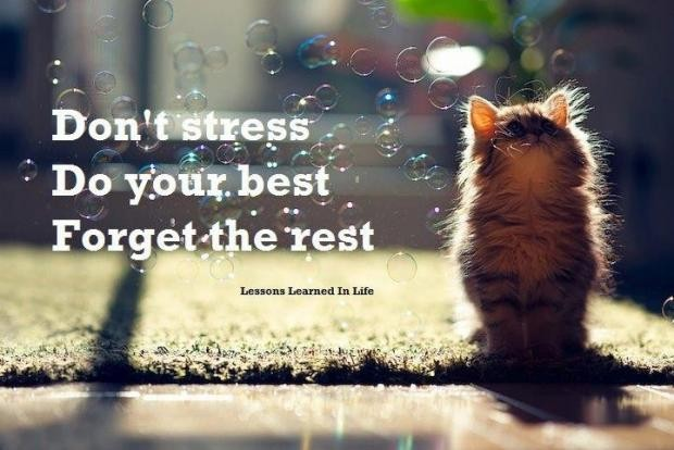 Dont Be Stressed Quote 2 Picture Quote #1