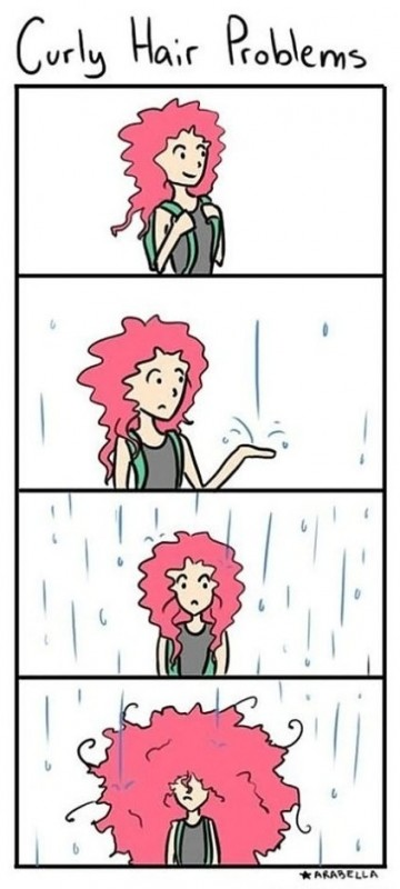 Curly Hair Problems Quote 1 Picture Quote #1