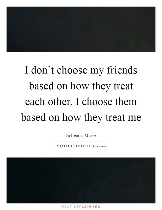 How To Choose a Friend
