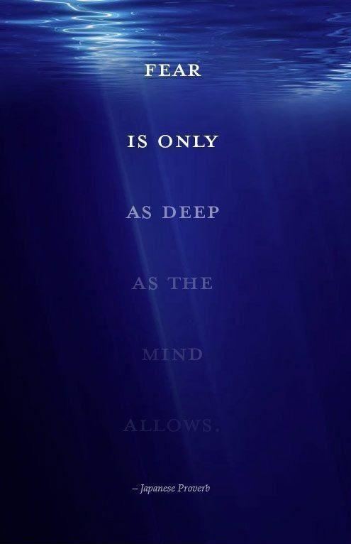 Fear is only as deep as the mind allows Picture Quote #1