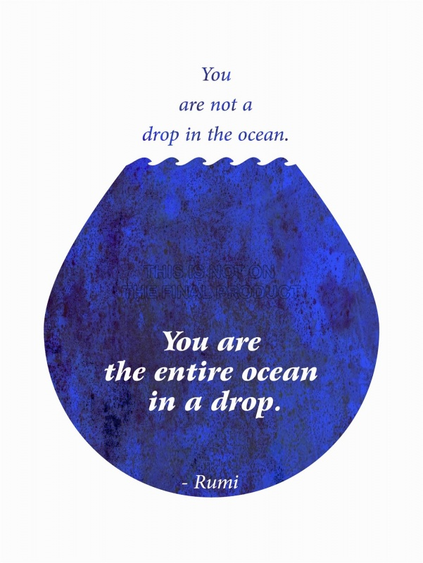 You are not a drop in the ocean. You are the entire ocean in a drop Picture Quote #1