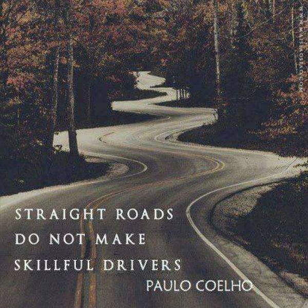 Straight roads do not make skillful drivers Picture Quote #1