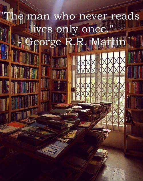 The man who never reads lives only once Picture Quote #1