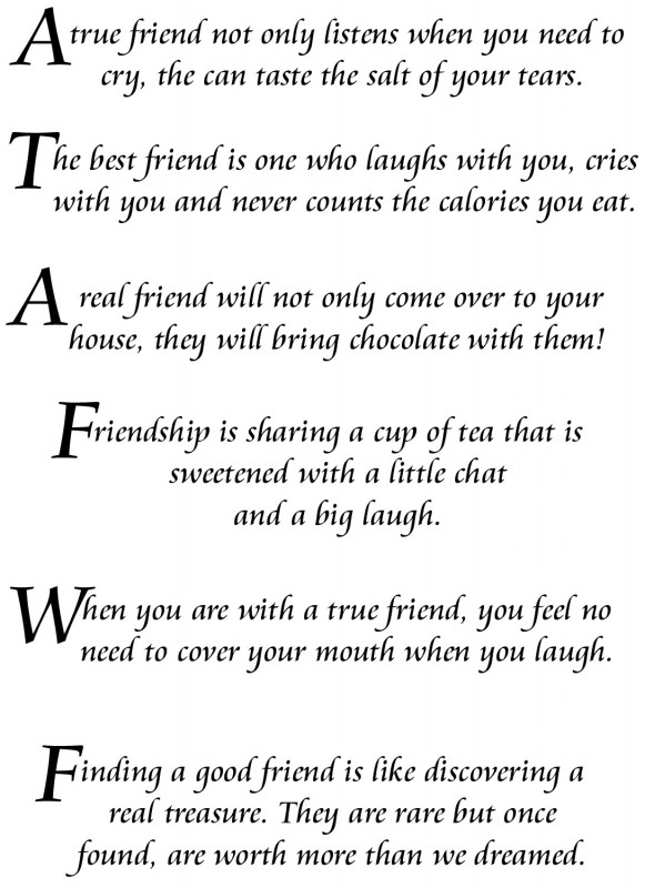 Scrapbooking Quote About Friends 1 Picture