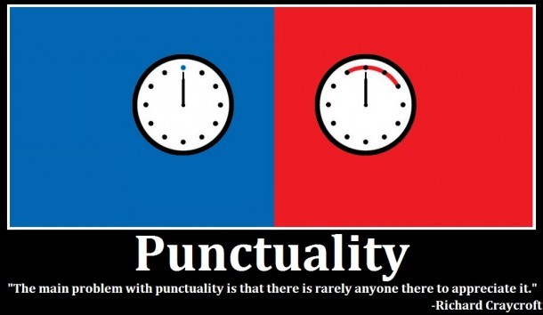 Punctuality Quote 2 Picture Quote #1