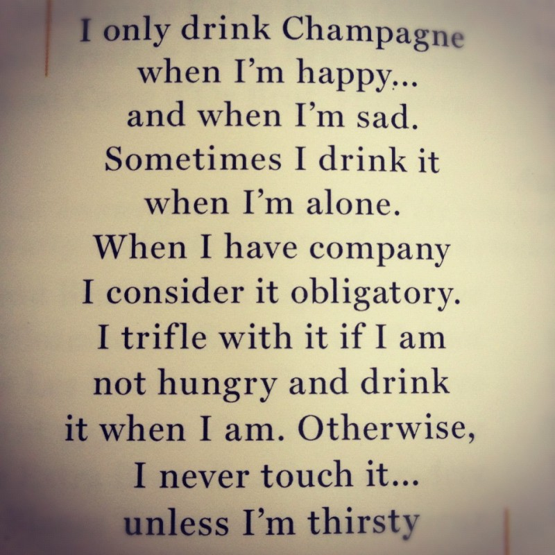 Champagne Quote 1 Picture Quote #1