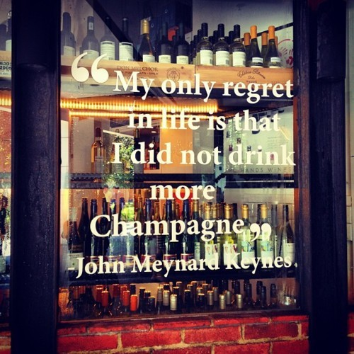 Drink Champagne Quote 1 Picture Quote #1