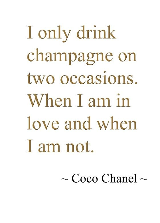 Drink Champagne Quote 2 Picture Quote #1