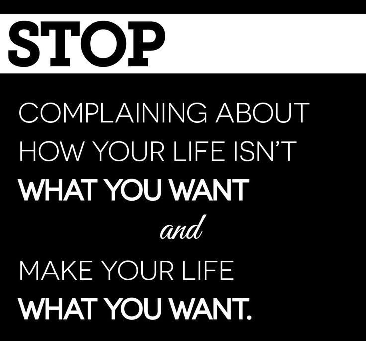 Stop Complaining Quote 8 Picture Quote #1