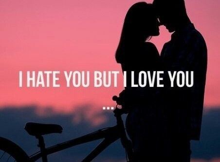 I Hate You But I Love You Quote 1 Picture Quote #1