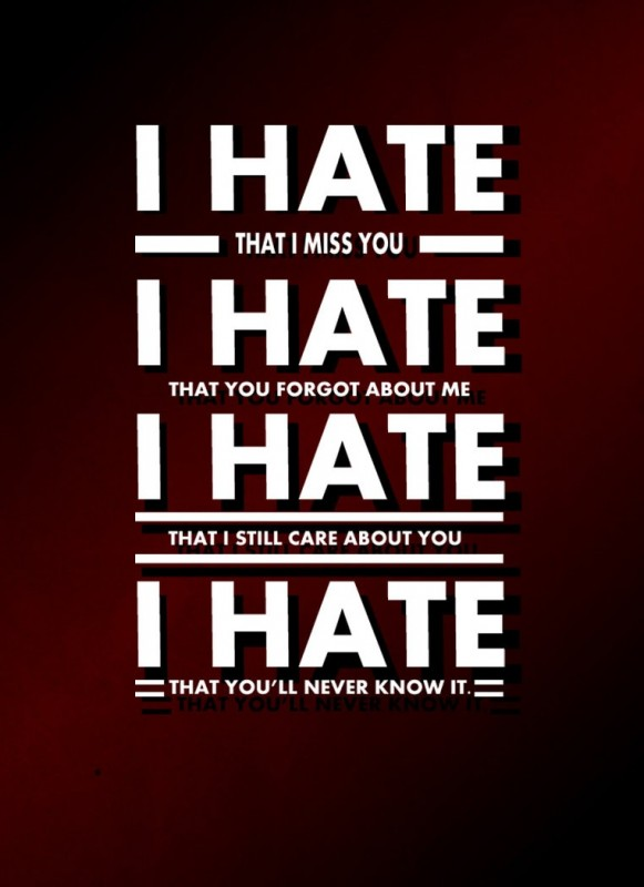 I Love You 2 Quotes : Hate You Quotes Hate You Sayings Hate You Picture Quotes
