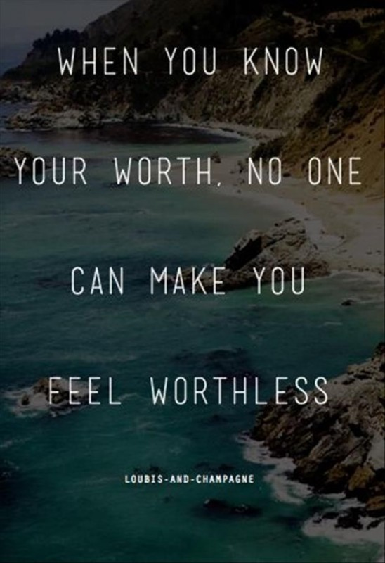 Know Your Worth Quote 1 Picture Quote #1