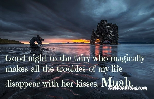 Romantic Good Night Quote For Him | Quote Number 681115 | Picture Quotes