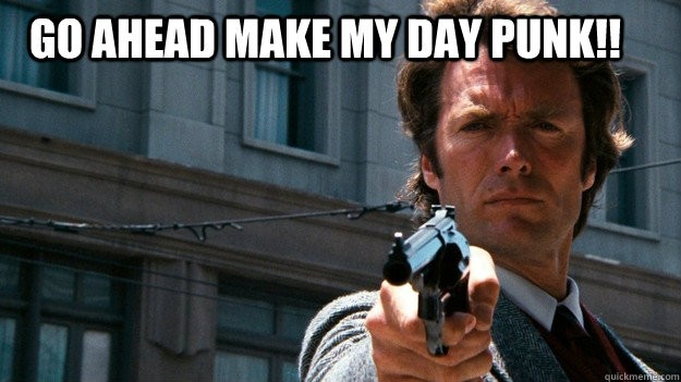 Go ahead, make my day punk!! Picture Quote #1