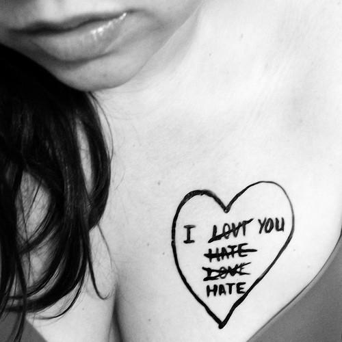 I Hate Love Quote 2 Picture Quote #1