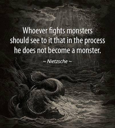 Become A Monster Quote 1 Picture Quote #1